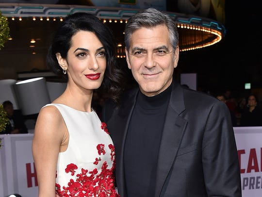 George and Amal Clooney at the world premiere of 'Hail,