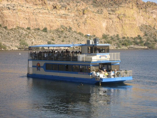 Desert Belle offers a relaxing, narrated cruise on the waters of the scenic Saguaro Lake