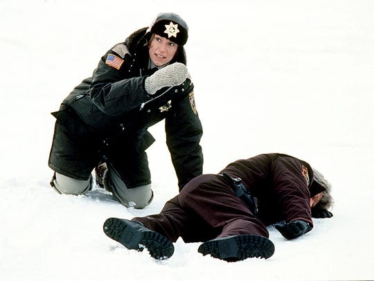 A pregnant Minnesota police chief (Frances McDormand)