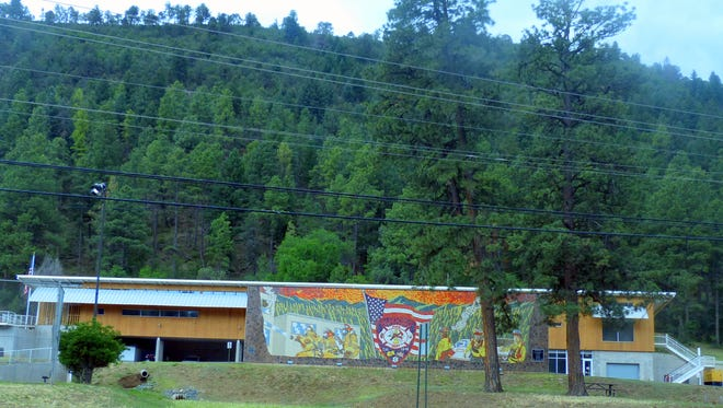 Ruidoso's main fire station sits on Sudderth Drive.