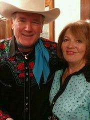 Kay Sebring-Roberts Kuhlmann with Roy Rogers, Jr. ,