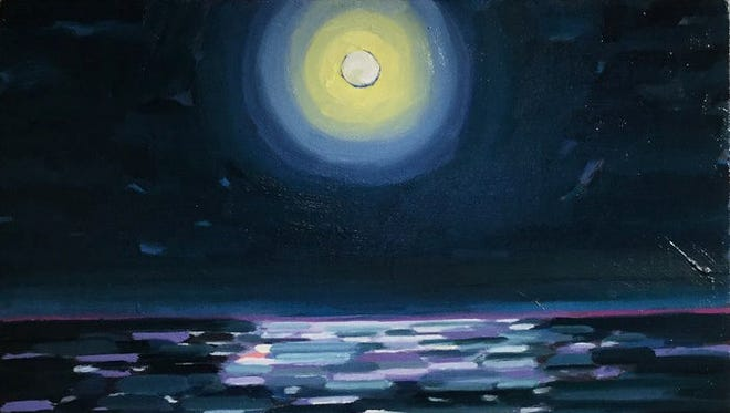 """The Art Center of Corpus Christi, 100 N. Shoreline Blvd., features work by painter Kitty Welsh Dudics and photographer Frank Cornish in the Studio C Gallery through May 19. This is Dudics' painting, """"Hunters Moon."""""""