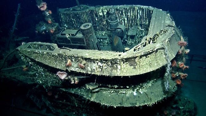 Depth charges sank the U-boat with all hands. The wreck is considered a war gravesite and cannot be disturbed.