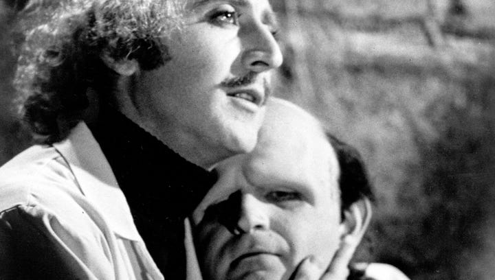 "Gene Wilder and Peter Boyle starred in Mel Brooks' ""Young Frankenstein."""