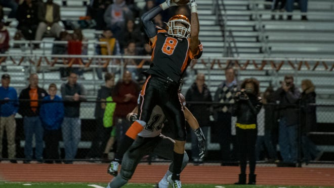 After losing to Dallastown in Week 9, Eddie Santiago (8) and Central York find themselves in a four-way tie atop the Division I standings going into Week 10.