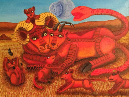 Fantasy with personality characterize the paintings to be seen in an exhibit at Inspiration Studios, West Allis, Oct. 5 to 30.