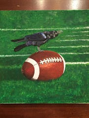 """Jean Mason's work such as """"Raven Ready"""" will be on display at Pocomoke City's 4th Friday Street Festival on Friday, June 23, 2017."""