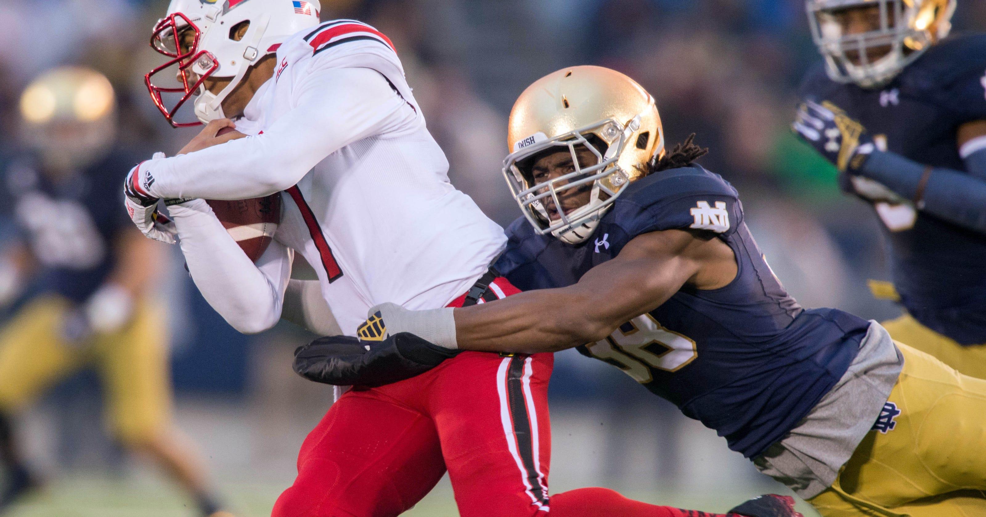 733d81a96 Notre Dame football falls to Louisville  Game Rewind