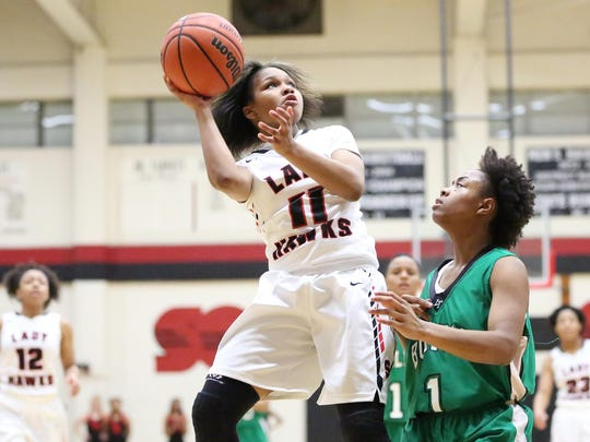 South Side's Quanardra Miller (11) and the Lady Hawks host Lexington on Tuesday.
