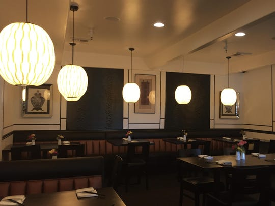 Lanterns light the dining room at the new Bukko in Midtown.