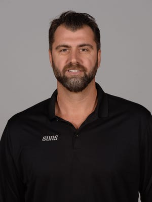 Sep 25, 2017: Phoenix Suns assistant coach Mehmet Okur poses during Media Day at Talking Stick Resort Arena.