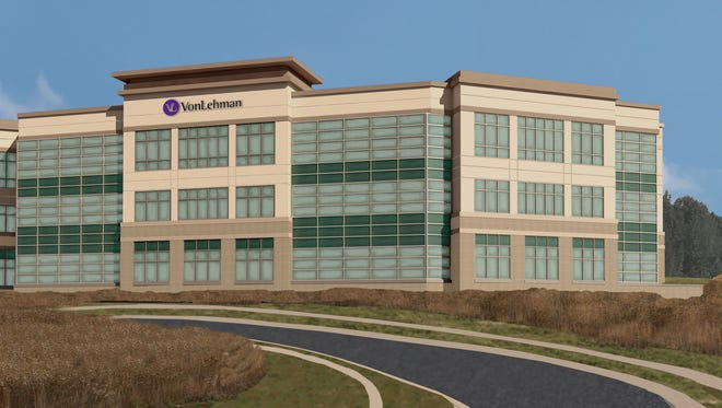 A rendering of the new VonLehman & Co. planned in Fort Wright. Wessels Construction & Development is developing the building for VonLehman.