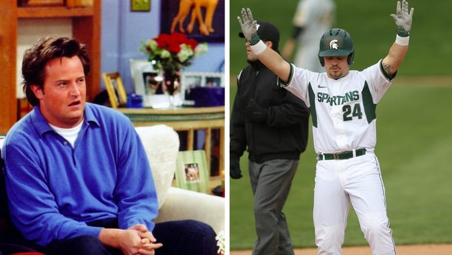"""Michigan State baseball senior DH Chandler Joseph Roskelly was named after the character Chandler Bing in the TV show """"Friends."""""""