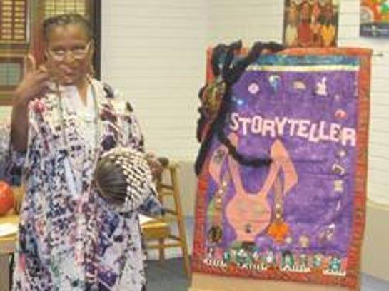 Storyteller Shirley Johnson.