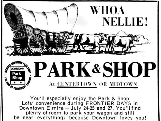 An ad for merchants' Frontier Days in Star-Gazette