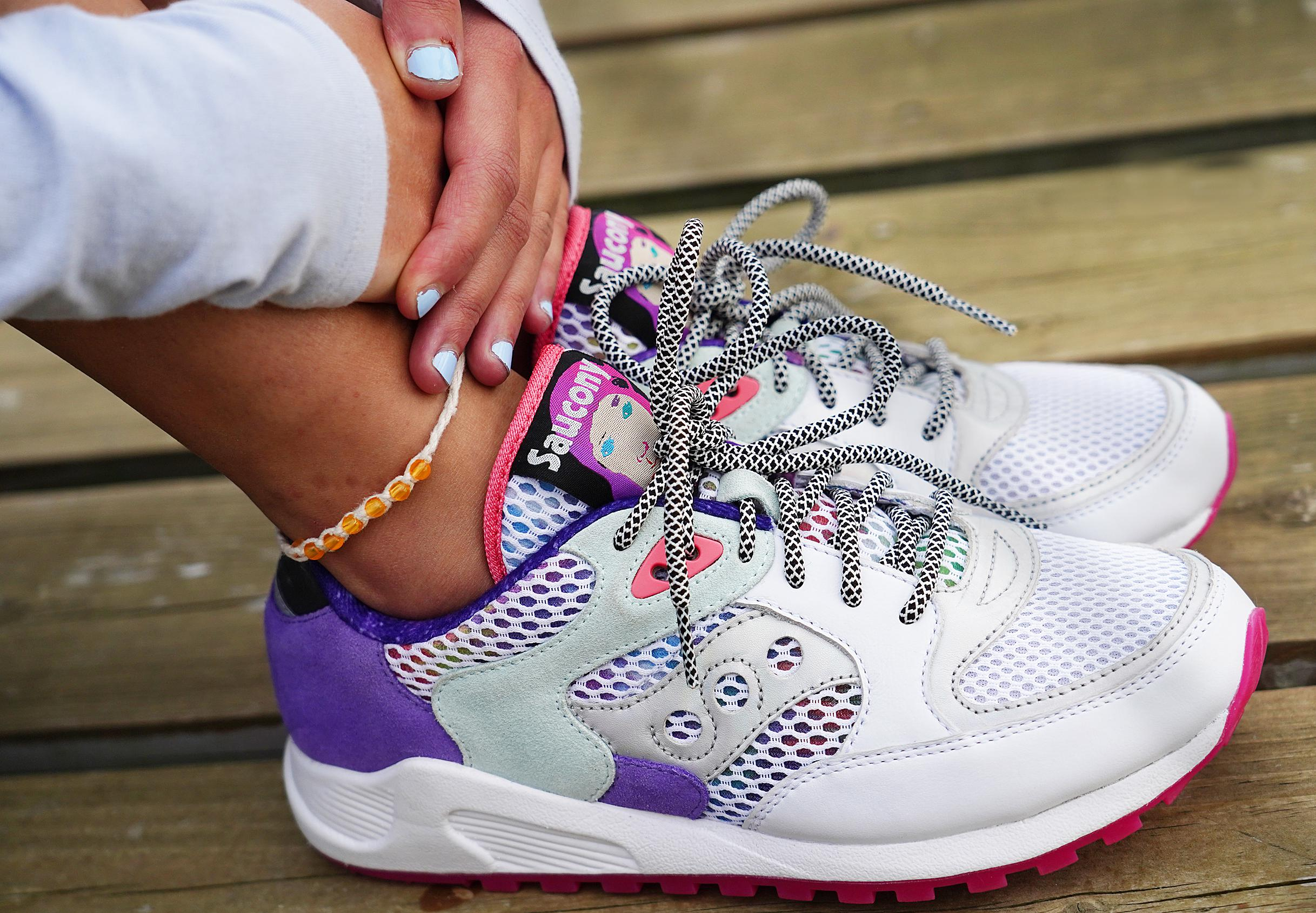 heart defect designs sneakers for Saucony
