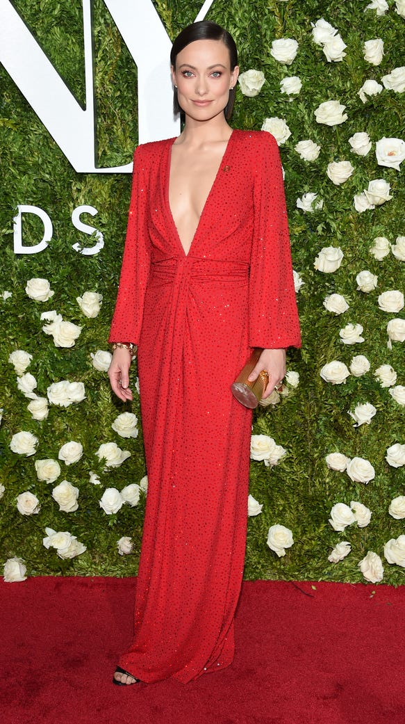 Olivia Wilde was a lady in red Sunday.