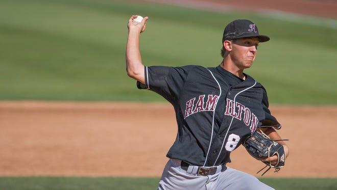 Hamilton pitcher Cole Bellinger.