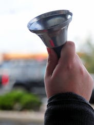 The familiar bell used by Salvation Army volunteers