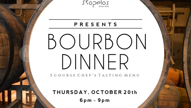 Skopelos at New World Landing is hosting a bourbon dinner Oct. 20.