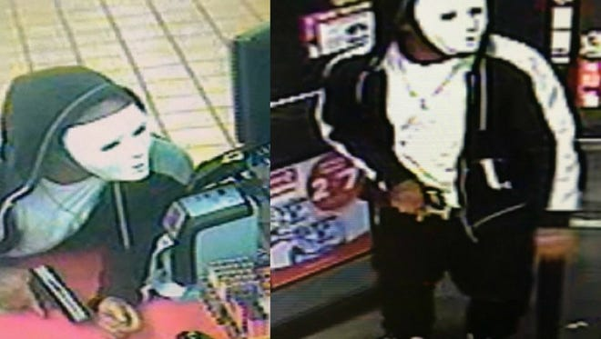 Police are looking for a suspect who allegedly robbed a convenience store in Lafayette Monday morning.