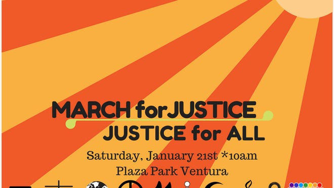The Justice for All March is set for 10 a.m. to 12:30 p.m. Saturday and starts and ends at Plaza Park in Ventura.