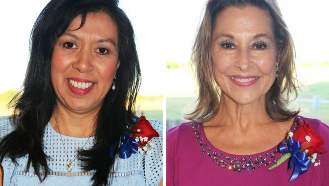 Gregory-Portland Independent School District teachers (right) Eleanor Deitz and Veronica Allan were dubbed Teacher of the Year.