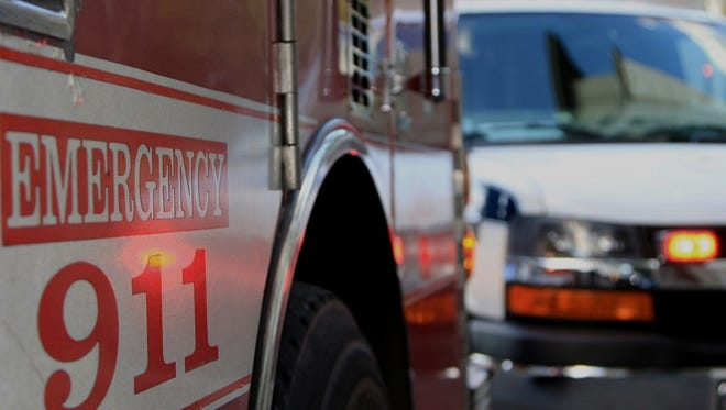 A woman died after trying to rescue her son from a creek.
