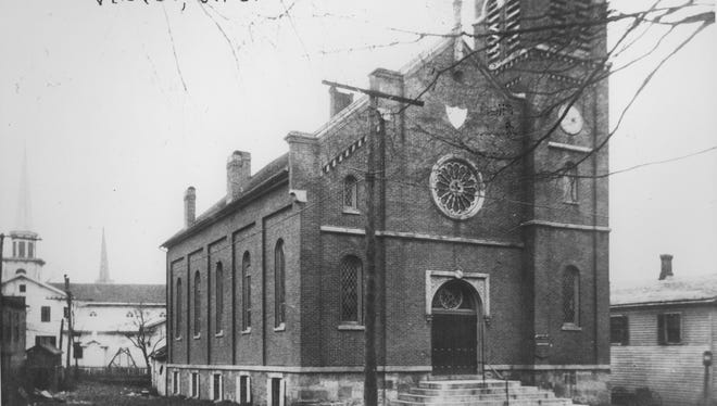 St. Paul's Universalist Church is seen in this circa 1900 photo. The brick building at 21 Maple Ave. in Victor was constructed in 1856.