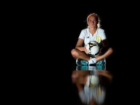 Senior Mackenzie Scully plays a key role as an outside midfielder for the top-ranked Padua soccer team.