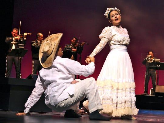 "Octavio Moreno and Cecilia Duarte from the opera ""Cruzar la Cara de la Luna."""