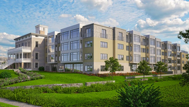 A rendering of Hudson Steppe, a development proposed at 34 State St. in Ossining.