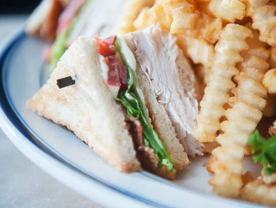 The roated turkey club at Brickwall Tavern and Dining