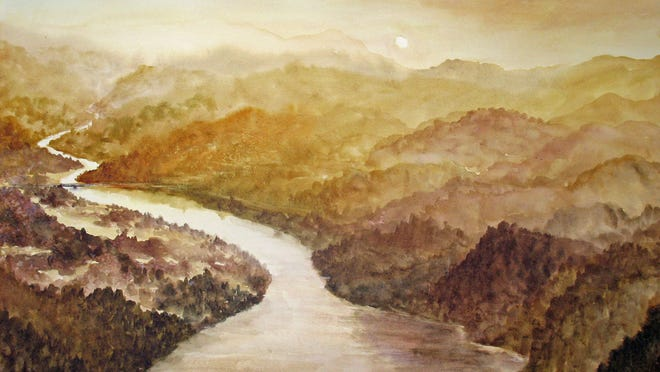 Situated on the western flank of the Eastern Continental Divide, the waters of the Tuckaseigee River below Bryson City flow into the Little Tennessee (now Lake Fontana) on their way via the Tennessee, Ohio, and Mississippi rivers to the Gulf of Mexico.