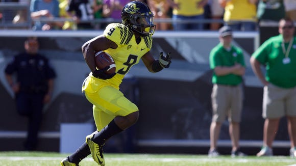 Sep 19, 2015; Eugene, OR, USA; Oregon Ducks wide receiver