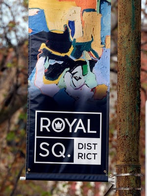 """""""Bart Nirvana"""" by artist Rita Whitney provided the artwork used on a Royal Square street banner. Bill Kalina, The York Dispatch"""