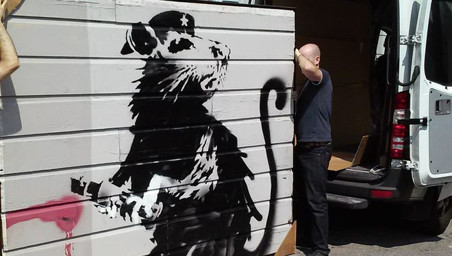 Street artist Banksy's Haight Street Rat will be at Tinney Contemporary during the first stage of the Nashville Walls Project.