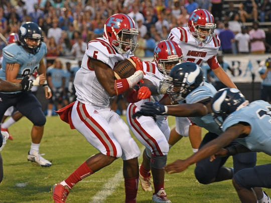 Airline vs Haughton football action at the 64th Annual Lions Club Football Jamboree held Friday at Airline.