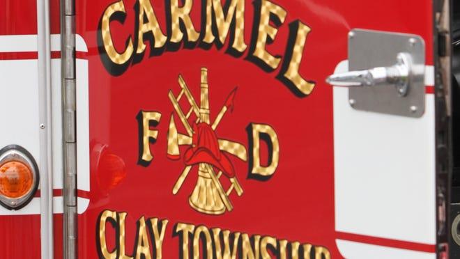 Detail of a Carmel Fire Department truck.