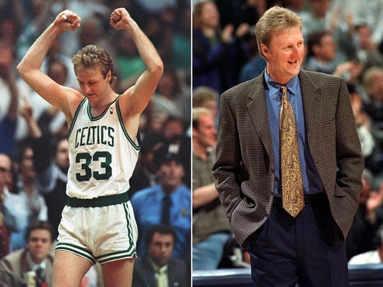 Larry Bird won three NBA championships with the Celtics and he coached the Pacers to the NBA Finals.
