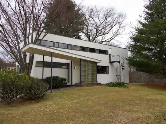 Walter Gropius, founder of the Bauhaus design school, designed a house for his family in Lincoln, Mass.