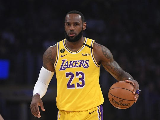 "Los Angeles Lakers forward LeBron James says his wish is that the season comes back ""sooner than later."""