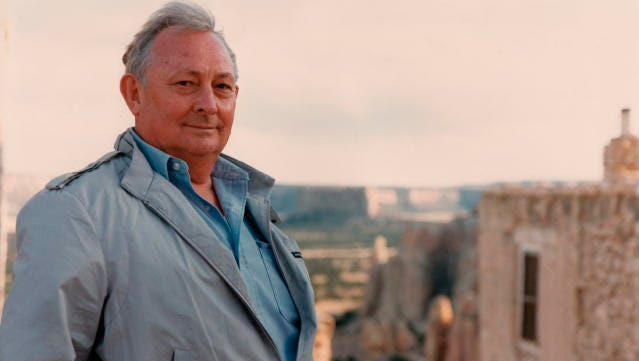Author Tony Hillerman is shown oin this undated photograph.