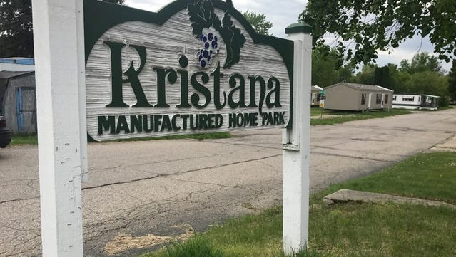 DeWitt Township wants the owner of Kristana Mobile Home Park to remove nine dangerous structures and fix or remove another 27 structures.