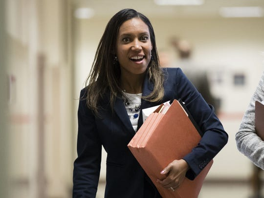 Assistant District Attorney Kristen Feden, prosecuting