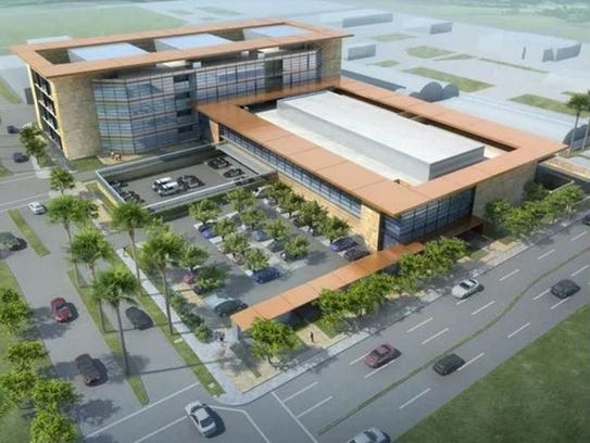 Rendering of the new jail planned for Indio.