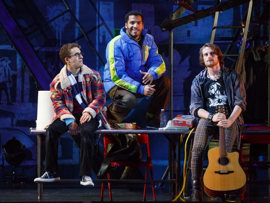 The travelling Broadway production of Rent will be making a stop in Evansville Wednesday for the 20th anniversary of the show. Pictured from left to right are Danny Harris Kornfeld, Christian Thompson and Kaleb Wells.