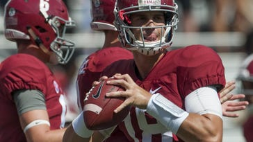 Alabama's Cooper Bateman is the most experienced among the Crimson Tide's quarterbacks.