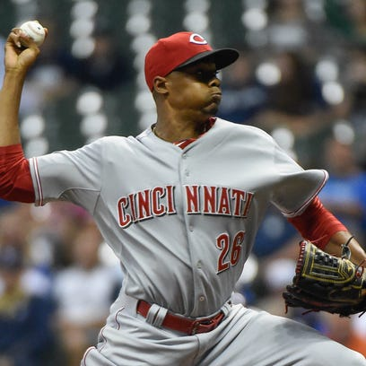 Reds at Brewers, Aug. 28