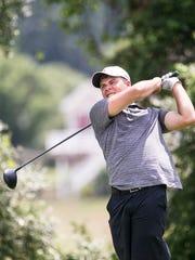 Luke Hoffnagle, hits a tee shot during the York County
